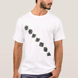 Diagonale Würfel (dunkel) T-Shirt