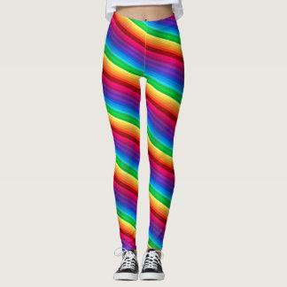 Diagonaler bunter Regenbogen abgestreifte Leggings
