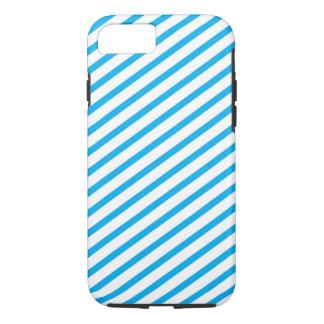 Diagonales Streifen-Blau-Muster iPhone 7 Hülle