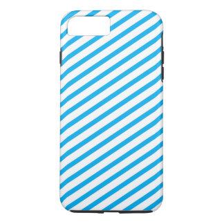 Diagonales Streifen-Blau-Muster iPhone 7 Plus Hülle