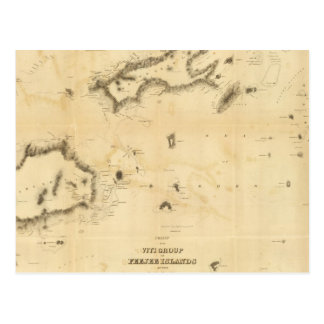 Diagramm der Viti Gruppe oder der Fidschi-Inseln Postkarte