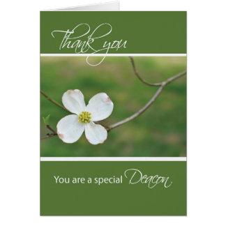 Diakon danken Ihnen Hartriegel-Blüte Karte