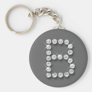 Diamant Anfangsb Standard Runder Schlüsselanhänger