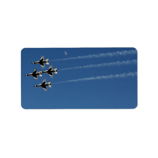 Diamant-Bildung der Thunderbirds-F-16 Adressaufkleber