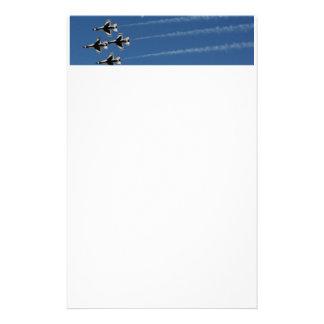 Diamant-Bildung der Thunderbirds-F-16 Briefpapier