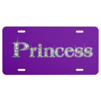 """""""Diamant"""" Bling Kfz-Kennzeichen Prinzessin-Imitat US Nummernschild"""