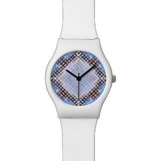 Diamant-Blues Uhr