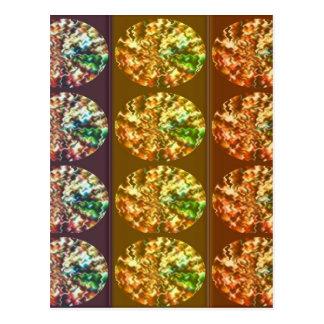 Diamant-Dekorations-Energie-Muster Postkarte