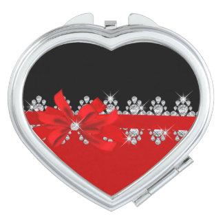 Diamant Delilah (glühend) Taschenspiegel