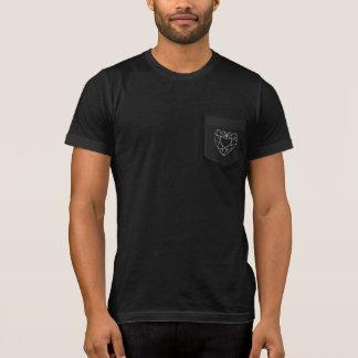 Diamant-Herz-Taschen-T-Stück T-Shirt