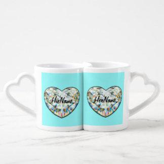 Diamant-Hochzeits-Jahrestags-Tassen! Namen ziehen Paartasse