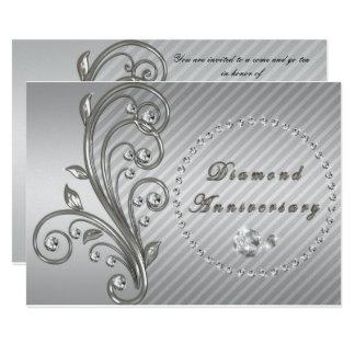Diamant-Hochzeitstag-Einladung 12,7 X 17,8 Cm Einladungskarte