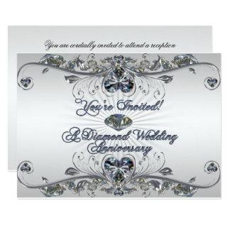 Diamant-Hochzeitstag-Einladungs-Karte 12,7 X 17,8 Cm Einladungskarte