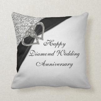 Diamant-Hochzeitstag-Wurfs-Kissen Zierkissen