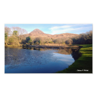 Diamant-Hügel Connemara, Galway, Irland Fotodruck