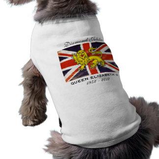 Diamant-Jubiläum-Wappenkunde-Löwe-HundeT - Shirt