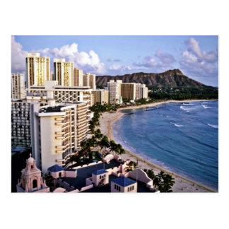 Diamant-Kopf - Waikiki Strand, Oahu Postkarte