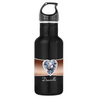 Diamant - kupfernes personalisiertes trinkflasche