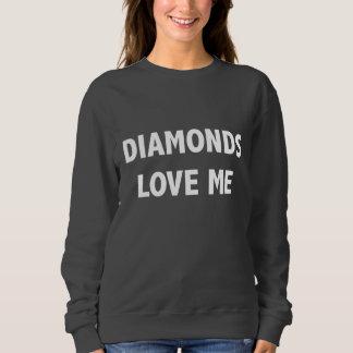 Diamant-Liebe ich Sweatshirt