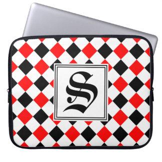 Diamant-Muster #3 mit Monogramm Laptop Sleeve