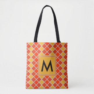 Diamant-Muster #80 mit Monogramm Tasche