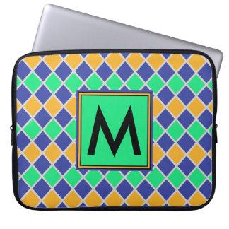 Diamant-Muster #81 mit Monogramm Laptop Sleeve