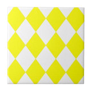 DIAMANT-MUSTER im hellen Gelb Fliesen