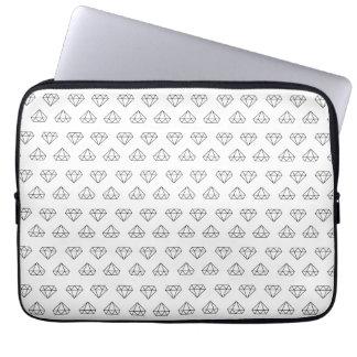 Diamant-Muster-Laptop-Hülse Laptopschutzhülle