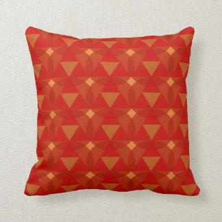 Diamant punktiert rotes orange kissen