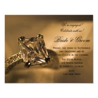 Diamant-Ring-Verlobungs-Party Prinzessin-Cut laden Karte