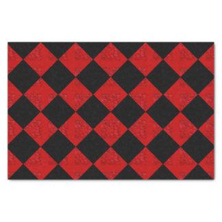 Diamant-Schachbrettmuster des schwarzen und Seidenpapier