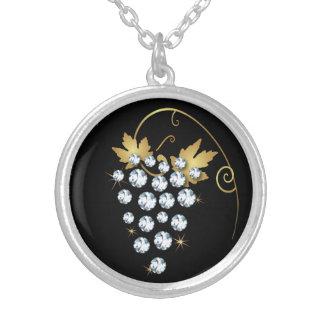 Diamant-Trauben-diamante de Versilberte Kette