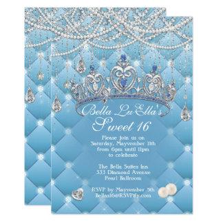 Diamant-und Perlen-Geburtstags-Party Einladungen