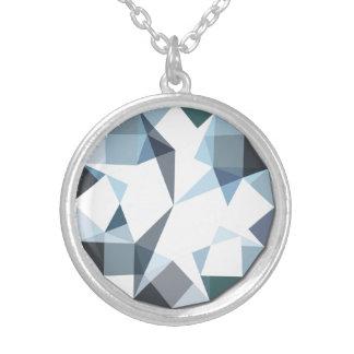Diamante de imitación-hängender versilberte kette