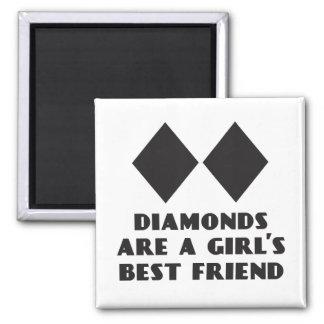 Diamanten sind der beste Freund-Magnet eines Quadratischer Magnet
