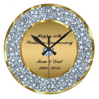 Diamanten u. Hochzeitstag des Gold50. Uhren