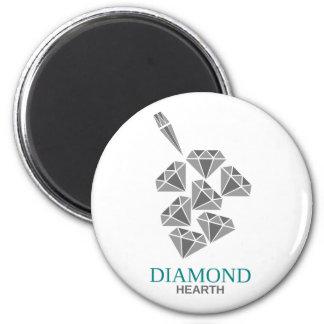 Diamantherd Runder Magnet 5,7 Cm