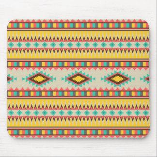 Diamants tribaux aztèques colorés de Natif américa Tapis De Souris