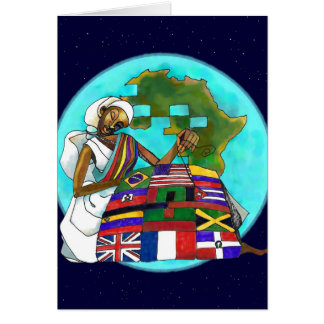 """""""Diaspora steppen"""" Kwanzaa-Grußkarte Karte"""
