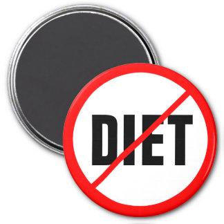 Diät verboten! runder magnet 7,6 cm