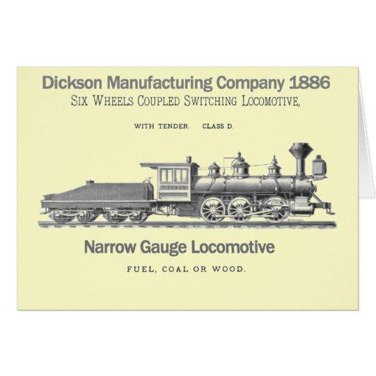 Dickson-Schaltungs-Lokomotive 1886 Karte