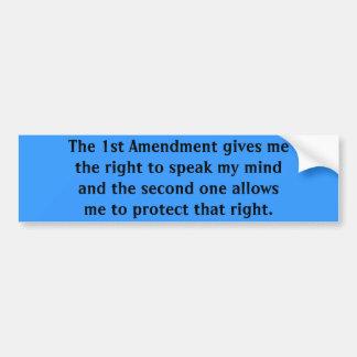 Die 1. Änderung gibt mir das Recht, m zu sprechen… Autoaufkleber