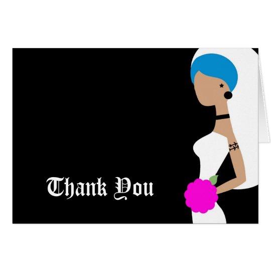 Die 311 Blau-Punkbraut danken Ihnen Mitteilungskarte