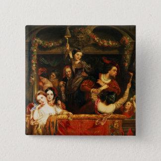 Die Ablenkung des Moccoletti - das letzte Quadratischer Button 5,1 Cm