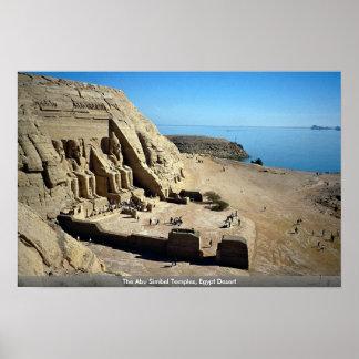 Die Abu Simbel Tempel, Ägypten-Wüste Poster