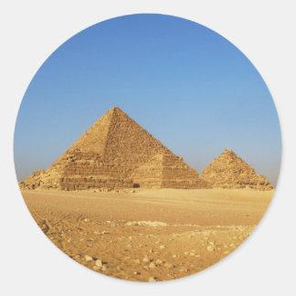 Die ägyptischen Pyramiden Runder Aufkleber