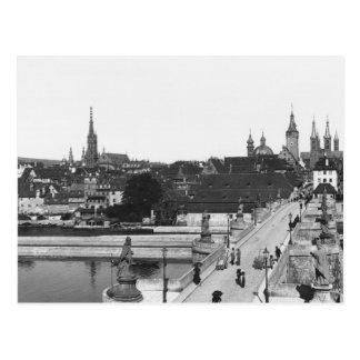 Die alte Brücke über der Fluss-Hauptleitung Postkarte