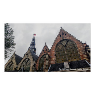 Die alte Kirche, Amsterdam Poster