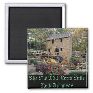 Die alte Mühle NordLittle Rock Arkansas Quadratischer Magnet