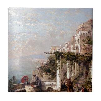 Die Amalfi-Küste durch Franz Richard Unterberger Keramikfliese